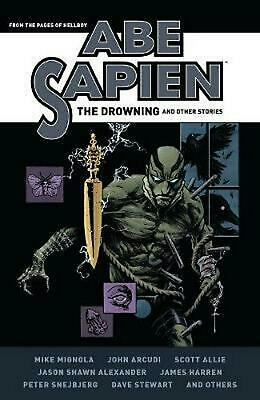 Abe Sapien: The Drowning and Other Stories by Mike Mignola Hardcover Book Free S