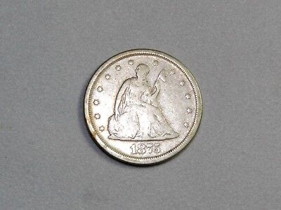 1875-S 20C Twenty Cent Piece. Great Type Coin! Great Condition & Free Shipping!