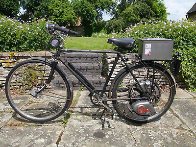 Cyclemaster 1953 32cc in 1950's Humber Bicycle. UK registered V5c Very reliable.
