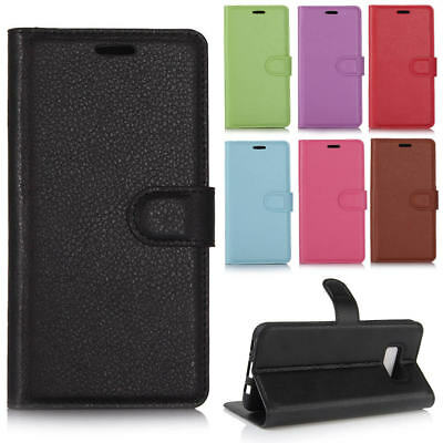 For Samsung Galaxy S9 S8 A8 Plus S7/ Edge/Note 8 Folio Leather Wallet Case Cover