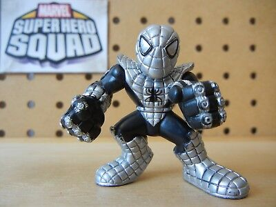 Marvel Super Hero Squad ARMORED SPIDER-MAN Black & Silver Armor from Wave 12