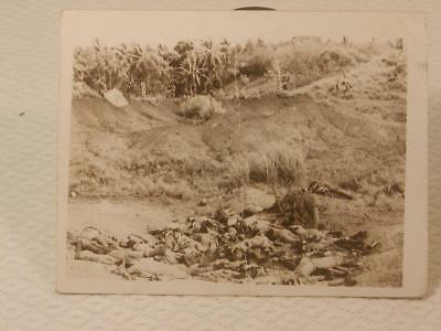 Antique Vintage Ww2 Photo-Dead Filipino Soldiers In Mass Grave-Rare-2