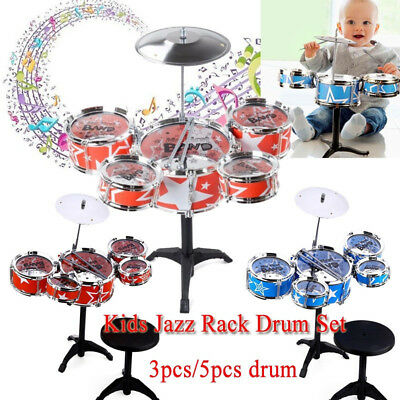 Kids Toy Jazz Drum Set Kit Musical Instrument Toy Toddler Jazz New