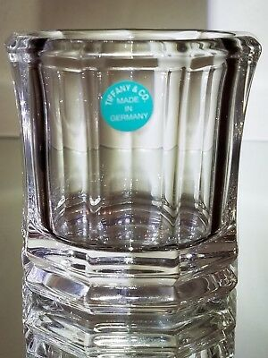 Tiffany & Co. Crystal Votive Candle Holder - Signed on Btm w Paper Label intact