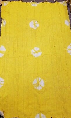 FREE SHIPPING! Authentic African Mud Cloth Fabric Handwoven Yellow