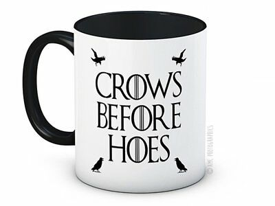 Crows Before Hoes - Game of Thrones Jon Snow - High Quality Coffee Tea