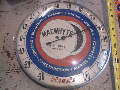 vtg macwhyte wire rope thermometer aircraft mining marine logging  elevator