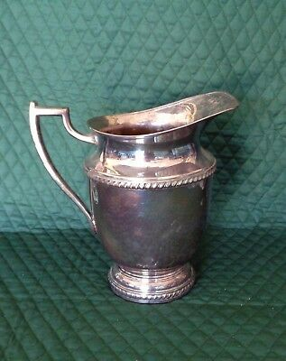 "F B Rogers Silver Plate Water Pitcher / #1407 / 9 1/4"" Tall"