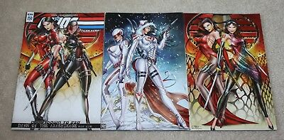 G.i. Joe 250 Jamie Tyndall Female Snake-Eyes Baroness Variant Virgin Bundle 3-Pk