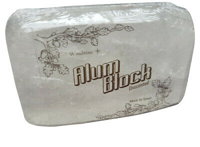 Windrose Alum block Natural Made in Spain 75-100g