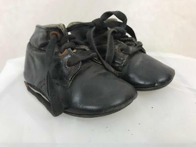 Antique Children's Early Leather Boots Booties Lace Up Work House Circa 1890s