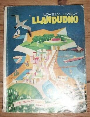 Vintage Llandudno Holiday Guide Showing Accommodation & Things To Do North Wales