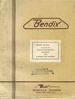 Bendix Ignition And Electrical Equipment For Business Type Aircraft