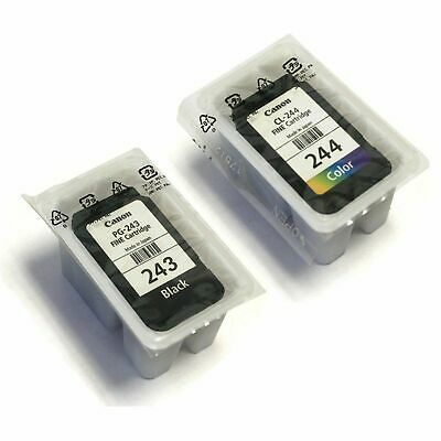 Brand New SEALED Canon PG-243 Black and CL-244 Color Ink Cartridge