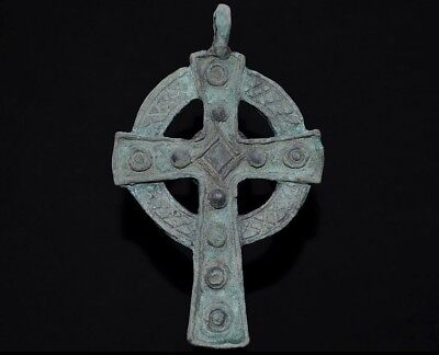 Ancient Viking Large Bronze Cross. Norse Pendant Amulet, circa 950-1000 AD. MINT