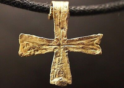 Ancient Viking Solid GOLD CROSS. Stunning Norse Amulet, circa 950-1000 AD. Rare