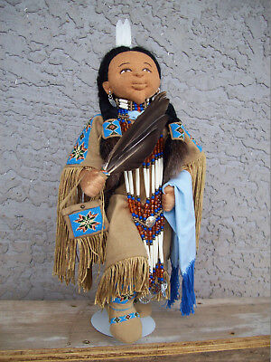 Native American Indian Cloth Woman Southern Traditional Dancer Doll Clara Begay