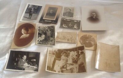 Antique  Vintage Photographs And Ephemera Job Lot Of 12 Good Condition