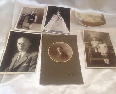 Antique  Vintage Photographs And Ephemera Job Lot Of 6 Good Condition