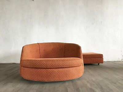 Mid Century Milo Baughman oversided chair and ottoman for Thayer Coggin