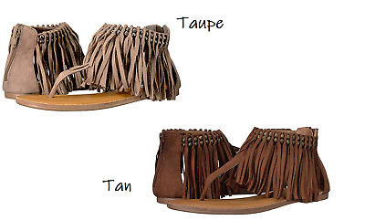 6cba3a941307 NOT RATED WOMEN S Solene Gladiator Fringe Sandals Size 7 -  35.00 ...
