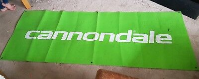 CANNONDALE Cycling Banner (Green) Large tough Cotton/Carpet Material