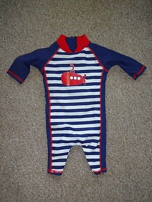 Baby Boys Holiday Summer Swimwear - 3-6 Months - Full Body All In One Swimsuit