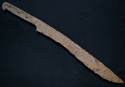 Ancient Viking LARGE Iron Battle KNlFE. Stunning Norse Rusty BIade, c 950-1000Ad