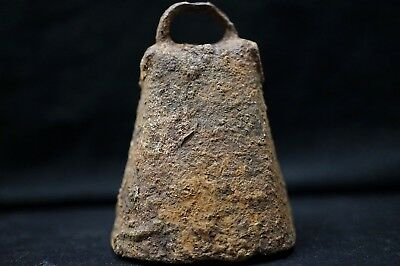 Ancient Viking Iron Battle Bell. Stunning Rusty Norse Chime, circa 950-1000 Ad.