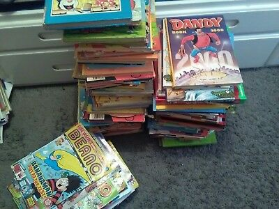 Beano job lot of books and magazines ...think oldest is two of the books at 1972