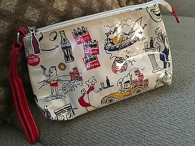Vintage Coca Cola Cosmetic Bag, NWOT, Zippered With Strap