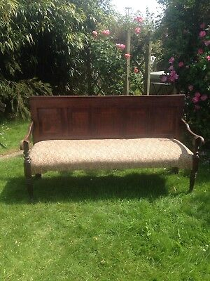 Antique Oak Settle Bench Victorian or earlier