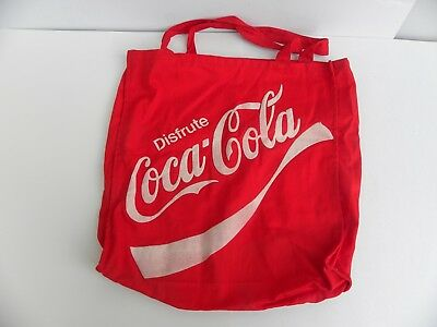"""Disfrute Coca Cola Cloth Carrying Bag (Nice condition and Size 16"""" by 16"""")"""
