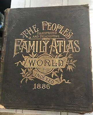 The people's family atlas world 1886
