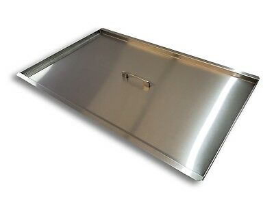 Stainless Steel Tank Cover for deep fryer (40 to 50 lbs) NEW Food trucks