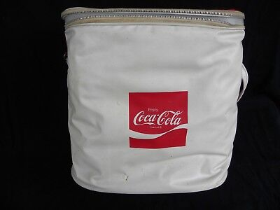 """Coca Cola Vinyl Cooler Bag (Good condition and Size 11"""" x 9"""" x 11"""" Tall)"""