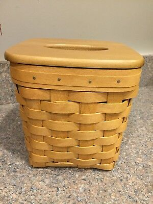 Longaberger Tall Tissue Basket And Lid