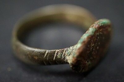 Ancient Viking Bronze Finger Ring, circa 950-1000 Ad. Stunning Norse Relic