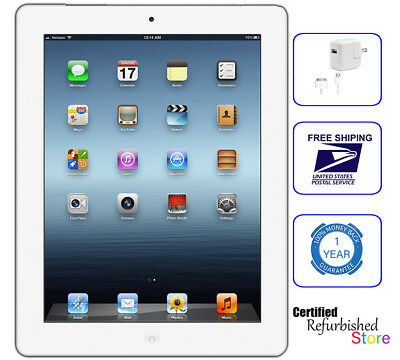 Apple iPad 4th Generation | 32GB White | Wi-Fi Only Tablet | While Supplies Last
