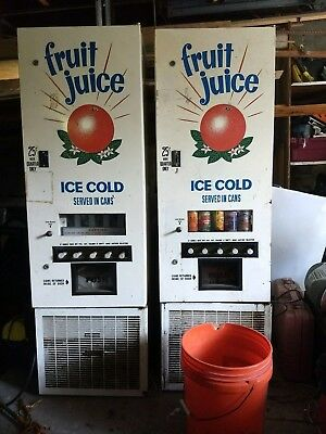 Set Of 2 Vintage Juice Vending Machines