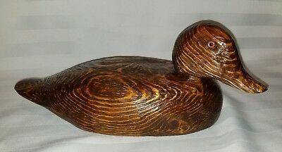 Hand Carved Wooden Duck Decor Decoy