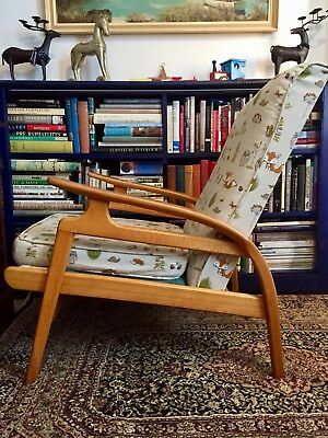 Scandinavian Mid Century Art Deco Lounge Chair. Possible Upholstery Project.