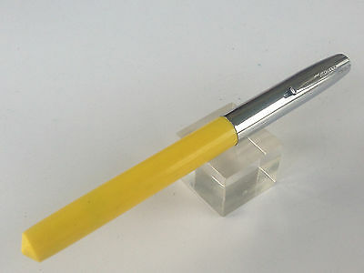Yellow Sheaffer Cartridge Fountain Pen FINE or MED nib 60-70s Pointed top/bottom