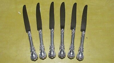 """Lot Of 6 """"TOWLE"""", Old Master Sterling Silver Knifes Flatware. Very Nice!"""