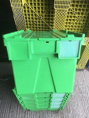 6 x Immaculate Green 65ltr Heavy Duty Plastic Storage Tote Boxes 60 x 40 x 35cm