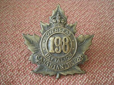 WW1 CEF 198th Canadian Buffs (Toronto) Infantry Battalion Cap Badge