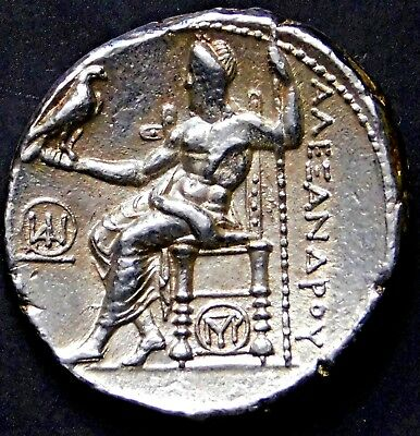 Alexander the Great. Exquisite Rare Tetradrachm. Ancient Greek Silver Coin.