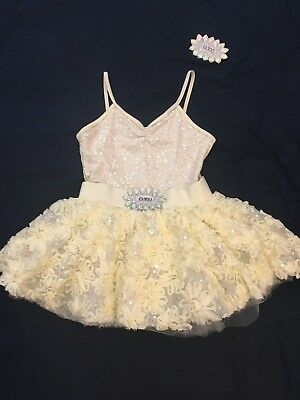 Yellow dance costume ballet size large child