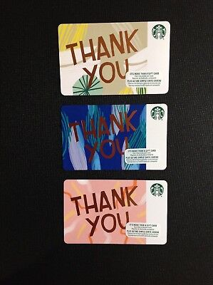 Canada Starbucks Thank You Gift Card ( Recycled Paper ) --- Lot Of 3 Pcs.  New