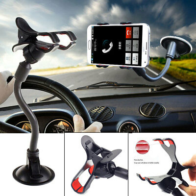 """Universal Car Mount Mobile Holder For Samsung Galaxy S9 S8 Note 8 <7""""Cell Phone"""
